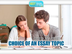 Choosing an Essay